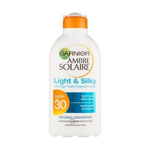 Garnier Ambre Solaire Light & Silky SPF30 Ultra Light Touch Protection Lotion 200ml