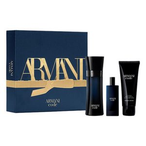 Armani Code Gift Set ( EDT 50ml spray & Shower gel 75ml & Travel Spray 15ml )