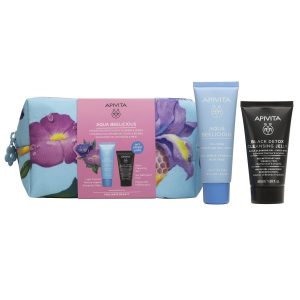 Apivita Aqua Beelicious Set (Oil-Free Hydrating Light Texture Cream 40ml & Black Detox Cleansing Gel 50ml)