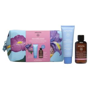 Apivita Aqua Beelicious Set  (Hydrating  Rich Texture Cream 40ml & Micellar Water 75ml)