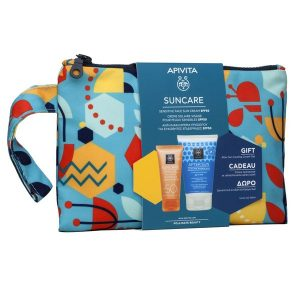 Apivita Suncare Gift Set ( Apivita Suncare Sensitive SPF50 Face Cream 50ml & After Sun Cooling Cream-Gel 100ml)