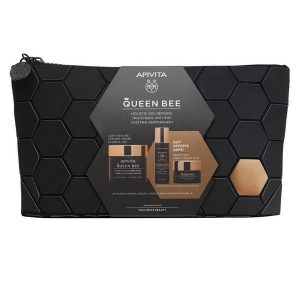 Apivita Queen Bee Holistic Age Defence Set (Light Texture Cream 50ml & Serum 10ml & Night Cream 15ml)