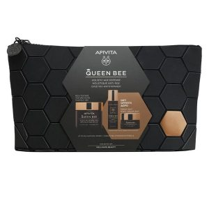 Apivita Queen Bee Holistic Age Defence Set (Rich Texture Cream 50ml & Serum 10ml & Night Cream 15ml)