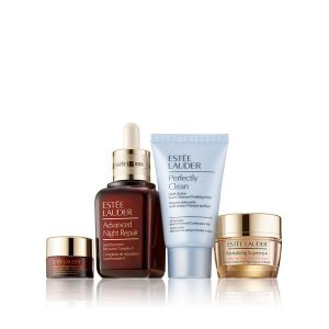 Estee Lauder Repair + Renew Set (Advanced Night Repair Synchronized Recovery Complex II 30ml & Revitalizing Supreme+ 15ml & Perfectly Clean Cleansing Foam 30ml & Advanced Night Repair Eye Supercharged Complex 5ml)