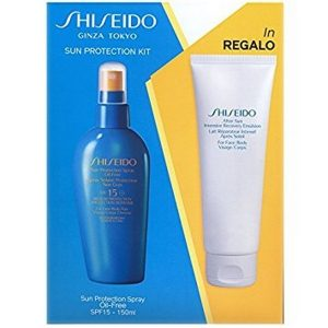 Shiseido Sun Protection Kit (Sun Protection Spray SPF15 150ml & After Sun Intensive Recovery Emulsion 100ml)